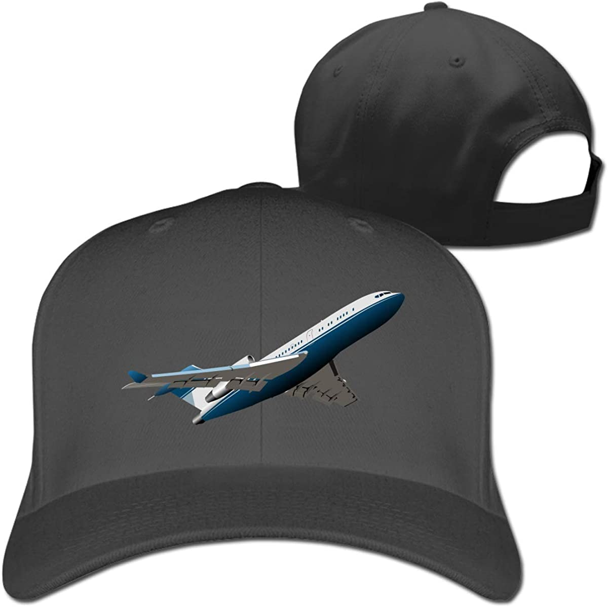 Airplane Fashion Adjustable Cotton Baseball Caps Trucker Driver Hat Outdoor Cap Black
