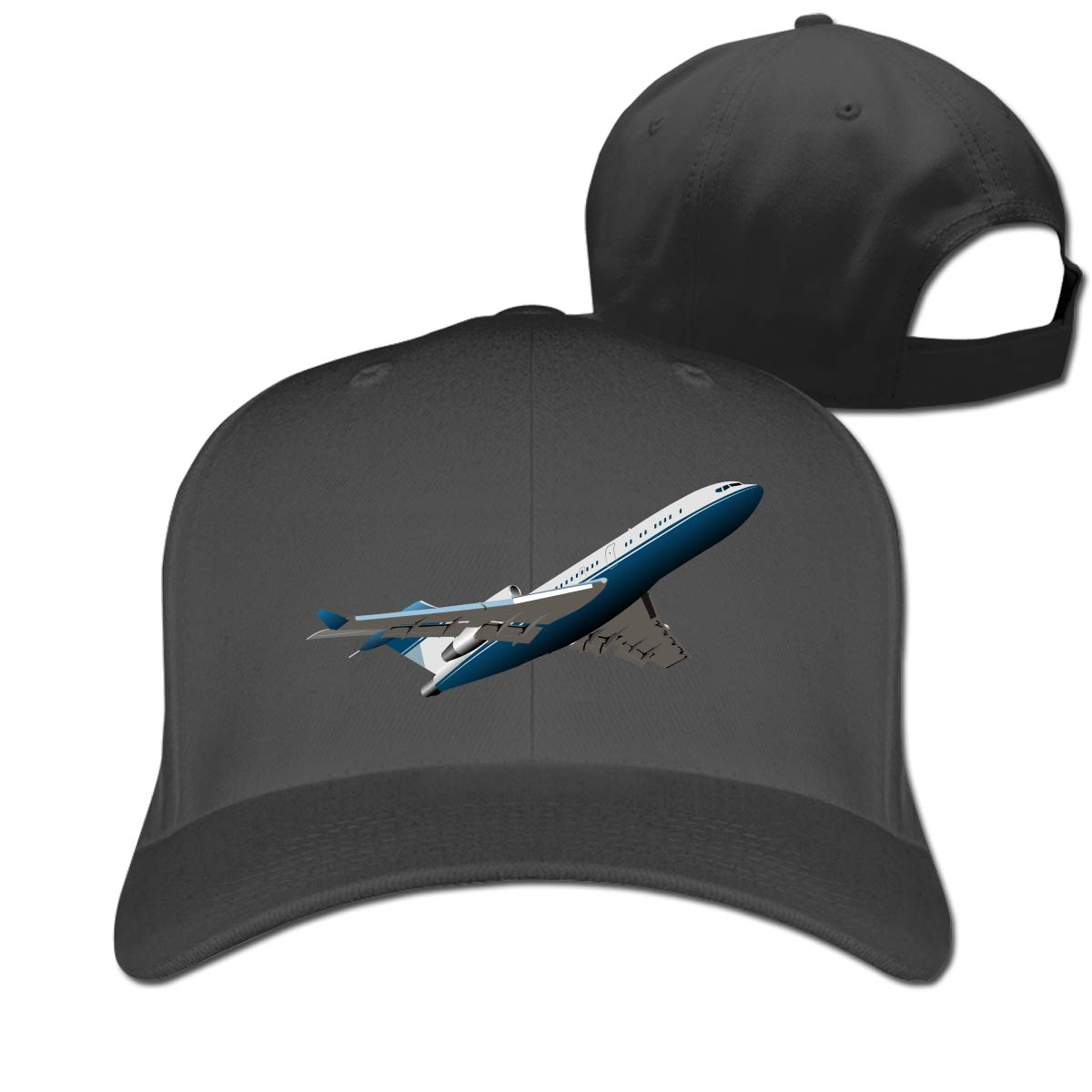 Airplane Classic Adjustable Cotton Baseball Caps Trucker Driver Hat Outdoor Cap Fitted Hats Dad Hat Black