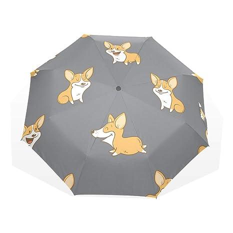 6987e5887df0 Amazon.com : Anmarco Corgi Dogs Puppy Travel Umbrella Lightweight ...