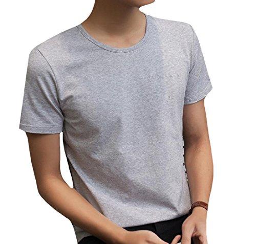 Coolred Hommes Taille Plus Tees À Manches Courtes Disponibles En Plusieurs Couleurs Gris