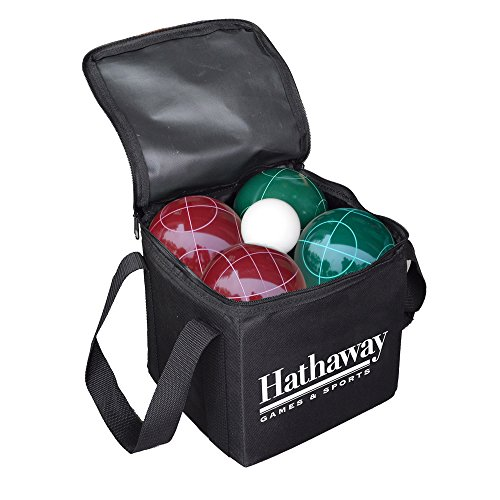 Hathaway Bocce Ball Set (Black Phenolic Resin)
