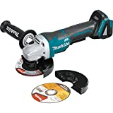 "Makita XAG11Z 18V LXT Lithium-Ion Brushless Cordless 4-1/2"" / 5'' Paddle Switch Cut-Off/Angle Grinder with Electric Brake - Tool Only"