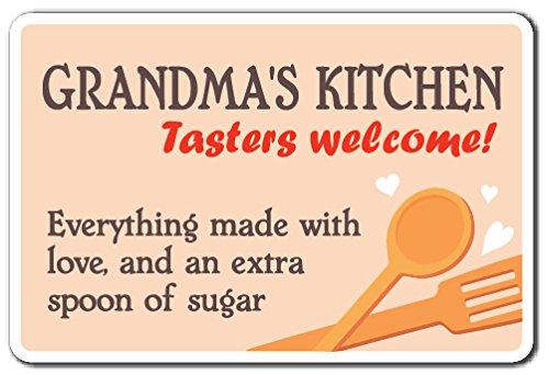 (SignMission Grandmas Kitchen Sign Family Grandparent Food Cooking Love Kitchen | Indoor/Outdoor | 12