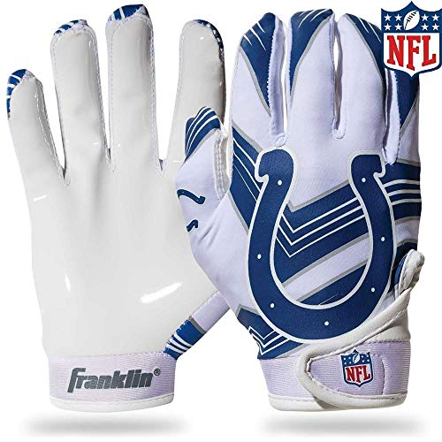 Franklin Sports NFL Indianapolis Colts Youth Football Receiver Gloves - Medium/Large ()