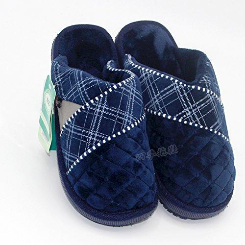 LaxBa Glisser sur lhiver au chaud en Fausse Fourrure Chaussons neige bordée Chaussures pour hommes bleu marine43-44 pour 39-40 yards à lusure