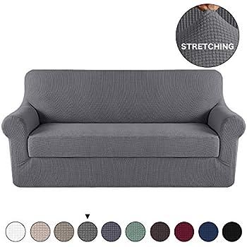 Amazon.com: MAYTEX Pixel Ultra Soft Stretch 2 Piece Sofa ...