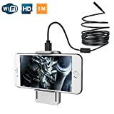 ScopeAround Wireless Endoscope, WiFi Borescope Inspection Camera with 2.0 Megapixel HD, Semi-Rigid Waterproof Cable for iPhone iPad Samsung Mac and PC