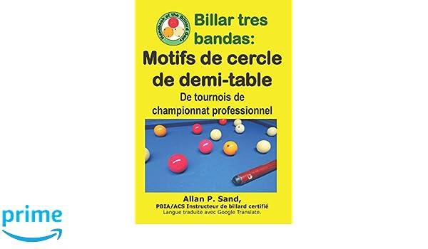 Billar tres bandas - Motifs de cercle de demi-table: De tournois ...