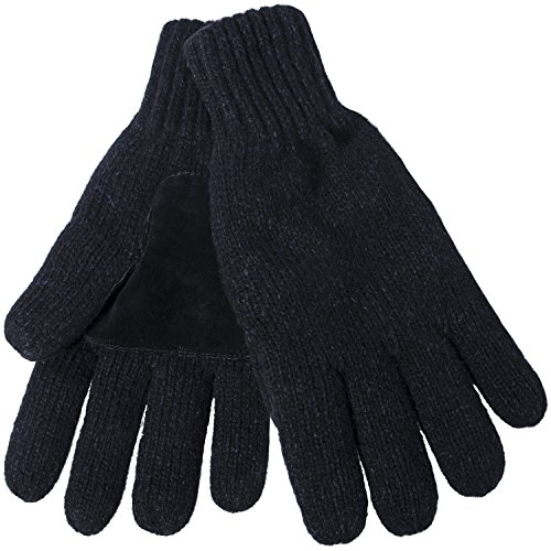 Oryer Men's Winter Gloves Warm Wool Knitted Mittens Cold Weather Gloves for Men