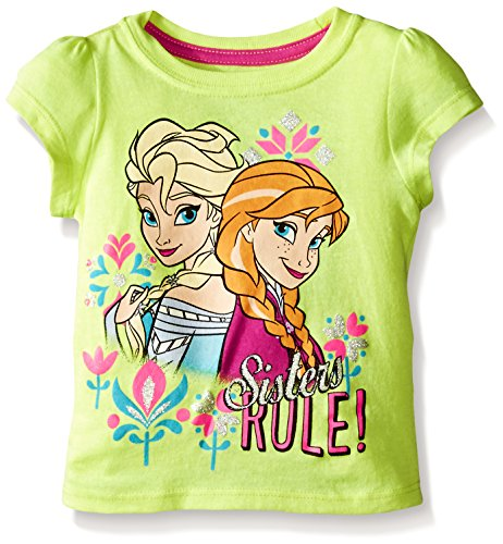 Disney Girls' Sisters Rule Frozen T-Shirt