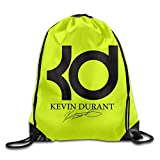 AOLM Men's Women's Print Shoulder Drawstring Bag Port Bag Backpacks String Bags School Rucksack Gym Bag 35# Basketball Player Logo White.