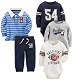 Carter's Baby Boys' 5-Piece Playwear Set, Blue, 12 Months