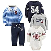 Carter's Baby Boys' 5-Piece Playwear Set, Khaki, 3 Months