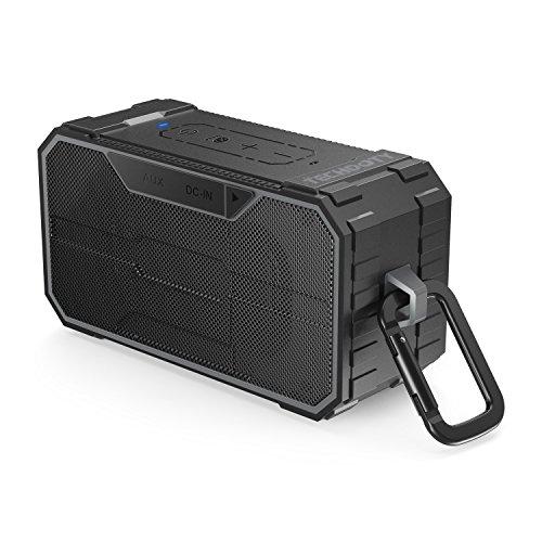 Bocina Bluetooth Portátil, TECHDOTY 10W Altavoz Bluetooth al Aire Libre Impermeable IPX6 Dual-Drivers con Microfóno...