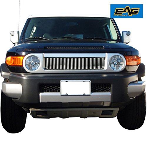 Badge Billet (EAG 07-14 Toyota FJ Cruiser Chrome Replacement Aluminum Billet Front Upper Main Grille)