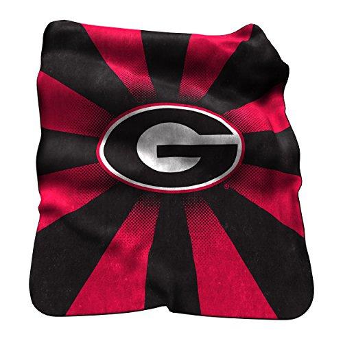 NCAA Georgia Bulldogs Raschel Throw Blanket (Bulldog Throw compare prices)