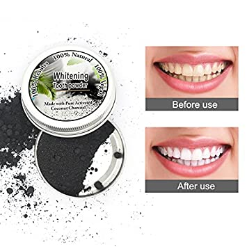 Amazon Com Natural Tooth Whitener With Activated Coconut Charcoal