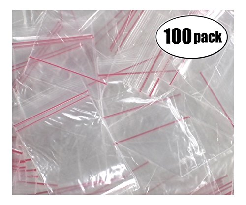 Resealable Poly Bags 2-1/2 x 2 inch for Tiny Collectables 1000 (Collectible Plastic)