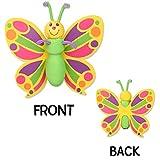Tenna Tops Pretty Butterfly Car Antenna Topper Antenna Ball Car Mirror Dangler