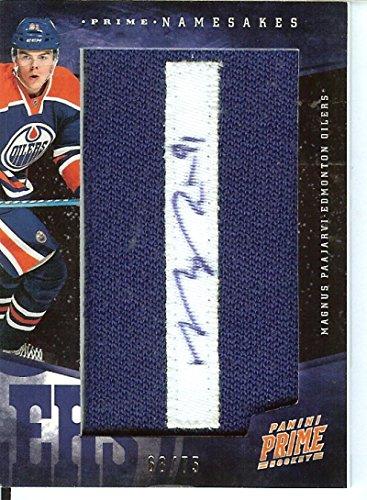 2011-12 Prime Namesakes - auto letter patches #47 Magnus Paajarvi Auto /75 Oilers