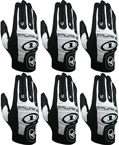 ProKennex Pure 1 Black Right Medium Racquetball (Paddle and Racquet Sports) Glove Six Pack