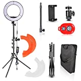 Emart 14 inch Photo Studio LED Ring Light Kit, 180 LED 5500K Dimmable Circle Photography Lighting with 6.2 ft Portable Light Stand for Portrait Video Shooting, Makeup Live, Recording YouTube