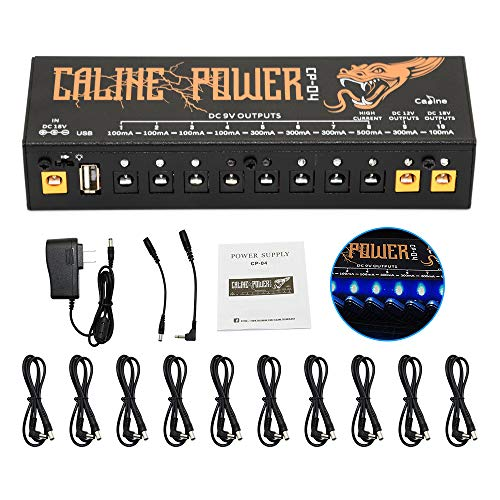 Guitar Pedal Power Supply Station Distributor 10 Isolated Output for 9V/12V/18V Effect Pedal with USB Port for Charging Mobile Phone Tablet Isolated power supply CP-04