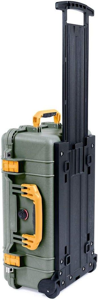 OD Green /& Yellow Pelican 1510 Case no Foam//Empty.