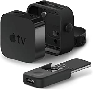 elago Apple TV Multi Mount Bundle with Apple TV Remote Holder - Compatible with All Apple TVs Including Apple TV 4K / HD