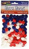 Creativity Street Pom Pons 100-Piece x 1/2 Inch, Patriotic Colors