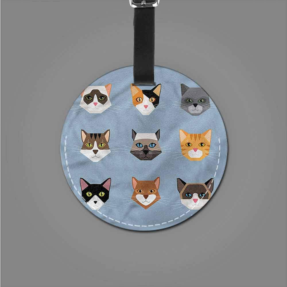 Label Bag Cat,Contemporary Portraits Set Name Tags