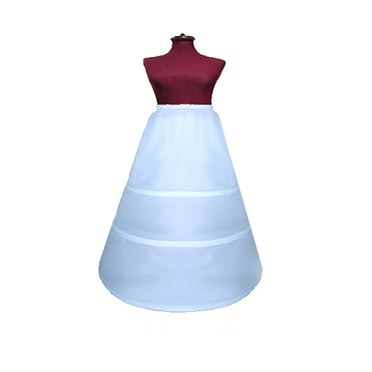 SACASUSA (TM) 3-HOOP Flower Girl Petticoat Skirt Slip S M L XL waist size up to 36''