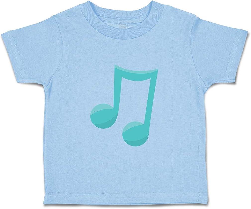 Custom Baby /& Toddler T-Shirt 8 Notes Blue Cotton Boy Girl Clothes