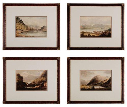Sterling 10022-S4 Decorative Wall Art, Valley Renderings, Set of 4 ()