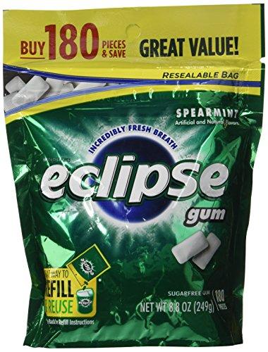 Review Eclipse Spearmint Sugarfree Gum,