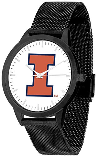 (Illinois Fighting Illini - Mesh Statement Watch - Black Band)