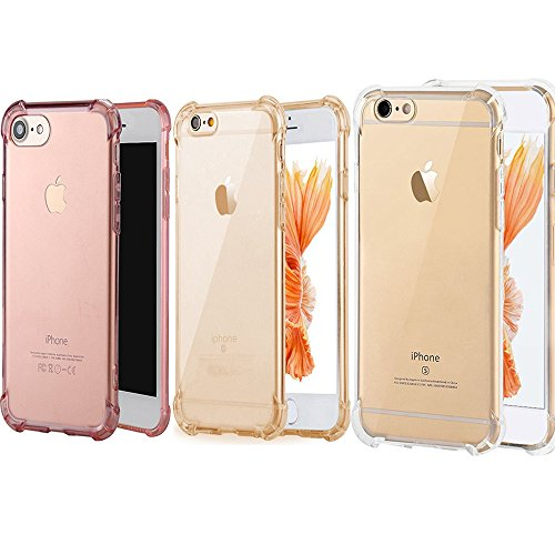 iPhone7 Plus Slim Case [3 Pack]iBarbe Crystal Clear TPU Protective Soft Touch...