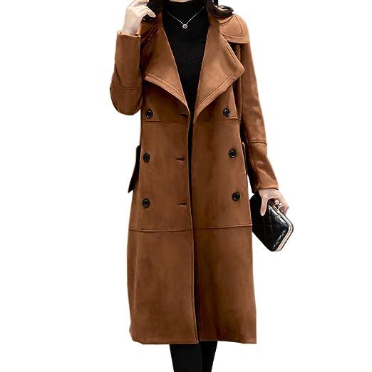 cappotto lungo dcamosciato da donna