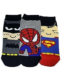 JJMax Boy's Cotton Blend Superhero Collection Socks