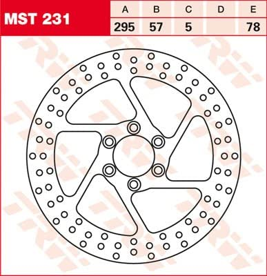 Lucas//TRW Bremsscheibe VORNE Suzuki VS 800 GL Intruder 1992-2000