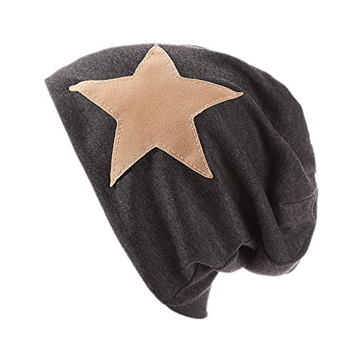 Menglihua Unisex Soft Stylish Slouchy Lightweight Suede Star Beanie Skull Hat Caps DarkGray One (Cartoon Pirate Hat)
