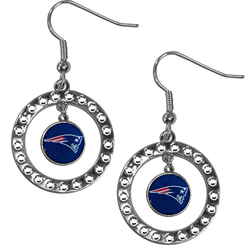 (NFL New England Patriots Rhinestone Earrings)
