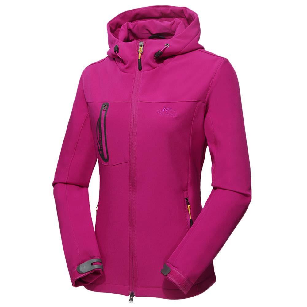 ZIXINGA Chaqueta Impermeable para Hombre Mujer Softshell Funciones Ligera Jacket De Outdoor