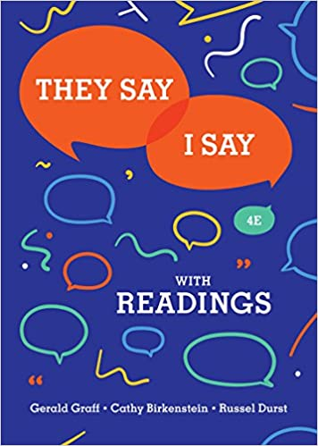 Amazon they say i say the moves that matter in academic they say i say the moves that matter in academic writing with readings fourth edition fourth edition fandeluxe Image collections