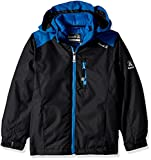 Kamik Winter Apparel Boys Chase 3-in-1 down Jacket, Black/Space, 7