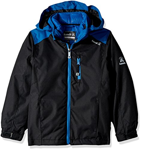 Kamik Winter Apparel Boys Chase 3-in-1 down Jacket, Black/Space, 7 by Kamik Winter Apparel
