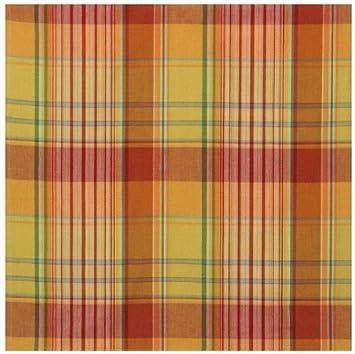 100% Cotton Yellow Green U0026 Orange Plaid 60u0026quot;x60u0026quot; Tablecloth    Bellini