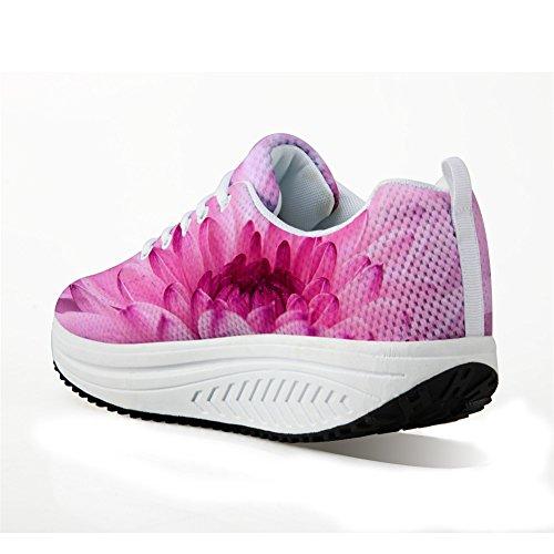 Per Te Disegni Vintage Stampa Floreale Fitness Camminando Sneaker Casual Womens Zeppe Piattaforma Scarpe Floreale-7