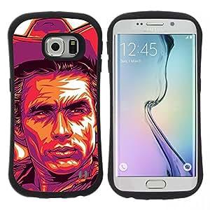 "Pulsar iFace Series Tpu silicona Carcasa Funda Case para Samsung Galaxy S6 EDGE / SM-G925(NOT FOR S6!!!) , Cowboy Cartel púrpura salvaje oeste"""