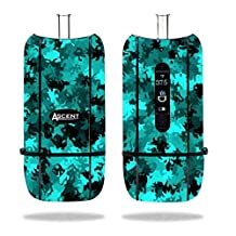 DaVinci Ascent Vaporizer Vape E-Cig Mod Box Vinyl DECAL STICKER Skin Wrap / Aqua Camo Custom Art